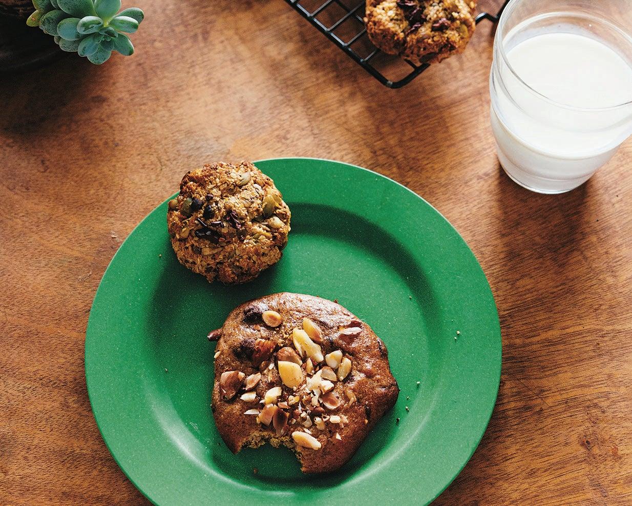 recipe: almond, chocolate + chickpea cookies